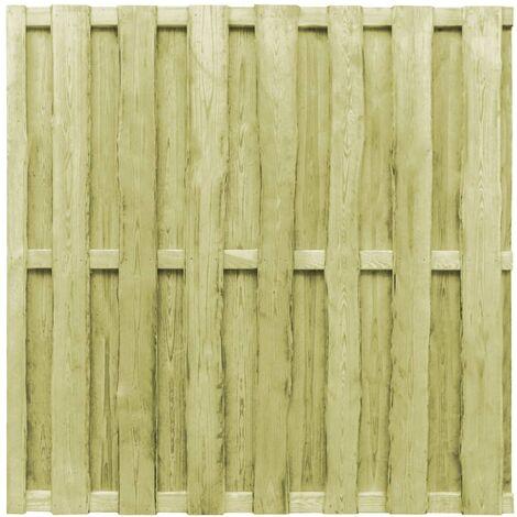 vidaXL Hit and Miss Fence Panel Pinewood 180x180 cm Green - Green