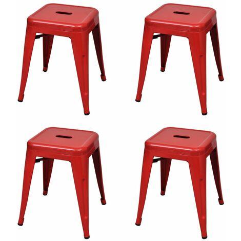 vidaXL Hocker Stapelbar Stapelhocker Sitzhocker Gästehocker Partyhocker Stapelstuhl Gartenhocker Küchenhocker Bistrohocker Stahl mehrere Auswahl