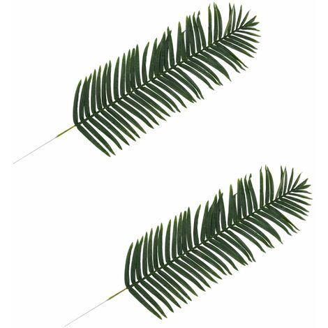 vidaXL Hojas artificiales de palmera 2 unidades verde 160 cm - Verde