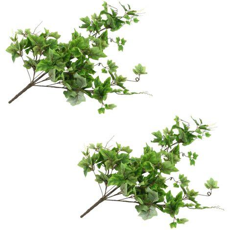 vidaXL Hojas artificiales de parra 2 unidades verde 90 cm - Verde