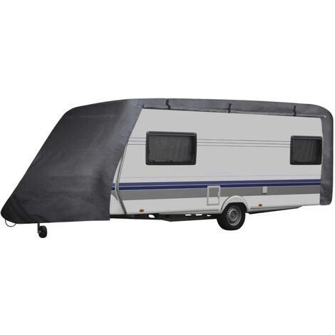 vidaXL Housse de Roulotte Bâche de Voiture Housse de Protection Véhicule Caravane Camping-car Jardin Arrière-cour Terrasse Extérieur S/M/L