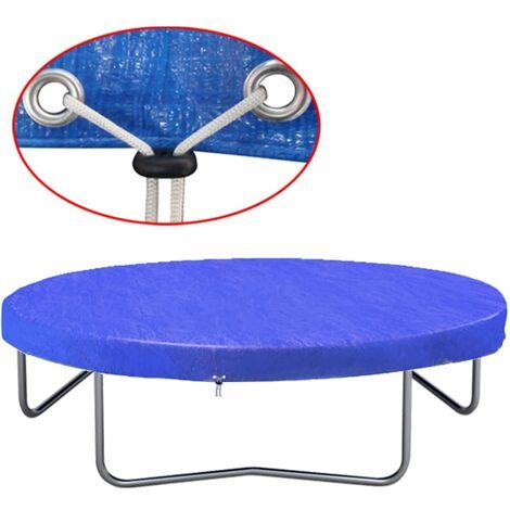 vidaXL Housse de Trampoline PE Bâche Couverture de Protection pour Trampoline Rond Résistante aux Intempéries et aux UV Multi-taille