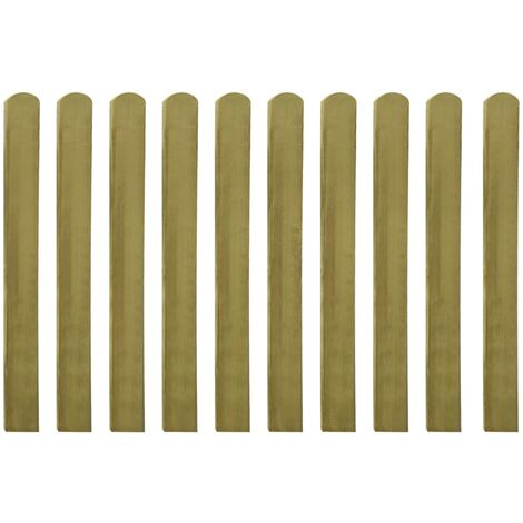 "main image of ""vidaXL Impregnated Fence Slats 10 pcs Wood 100 cm - Brown"""