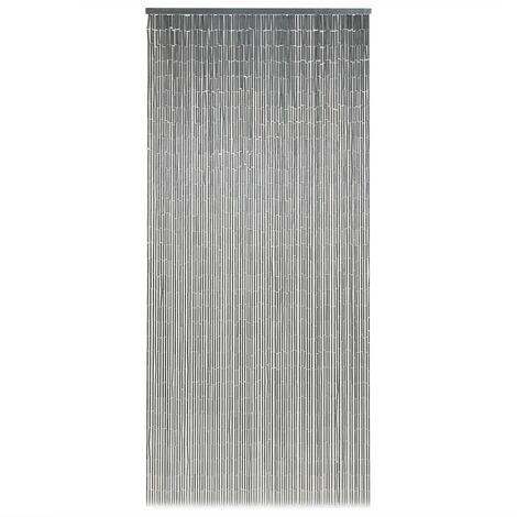 "main image of ""vidaXL Insect Door Curtain Bamboo 90x200 cm - Grey"""