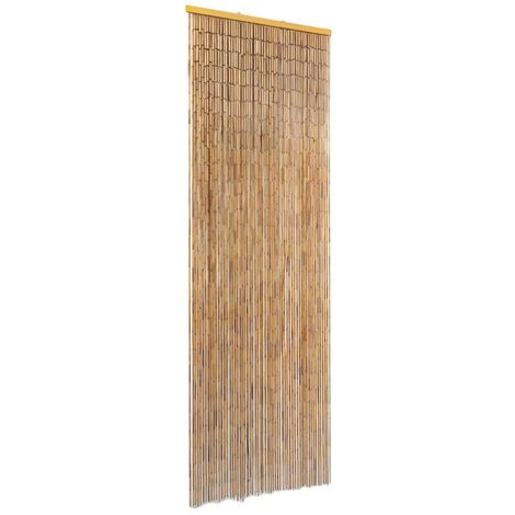 vidaXL Insect Door Curtain Bamboo Mosquito Guard Curtain Insect Protection Screen Top to Bottom Fly Screen Heat Insulation Multi Sizes