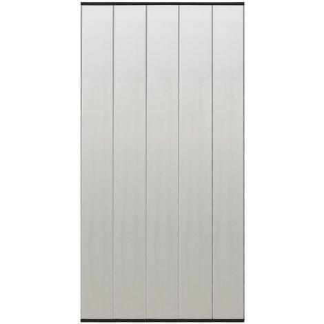 vidaXL Insect Door Screen with 4-Piece Mesh Curtain Black 120x240 cm - Black