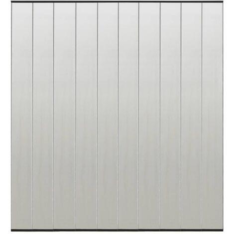 vidaXL Insect Door Screen with 4-Piece Mesh Curtain Black 240x240 cm - Black