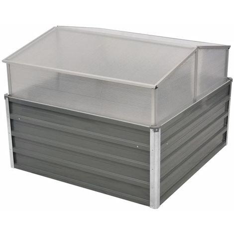 VidaXL Invernadero 100x100x85 cm acero galvanizado gris
