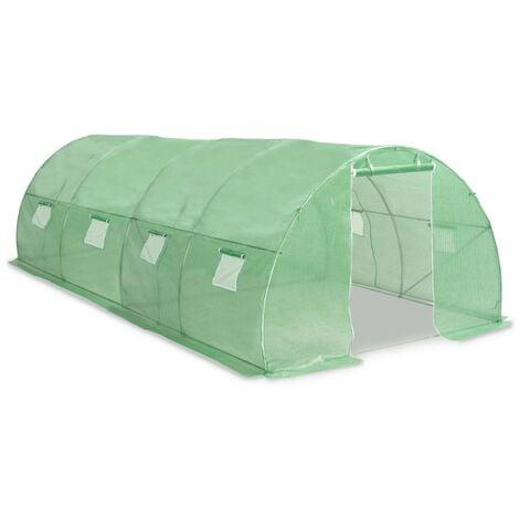 vidaXL Invernadero 18m² 600x300x200 cm - Verde