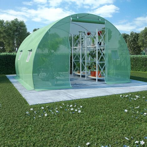 vidaXL Invernadero 9m² 300x300x200 cm - Verde