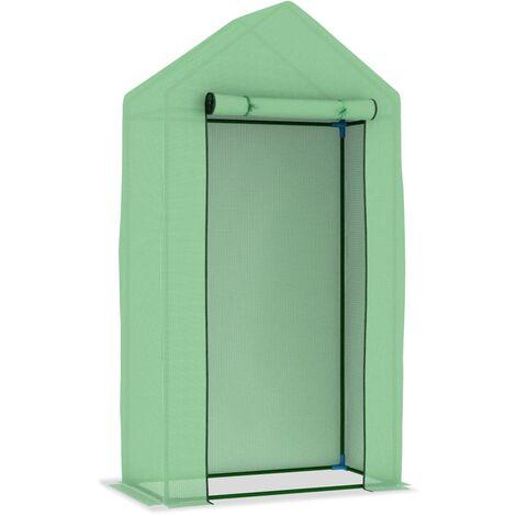 vidaXL Invernadero con estructura de acero 0,5 m² 1x0,5x1,9 m - Verde