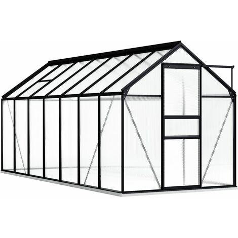 vidaXL Invernadero con estructura de aluminio gris antracita 8,17 m² - Antracita