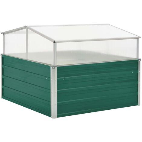 vidaXL Invernadero de acero galvanizado verde 100x100x77 cm - Verde