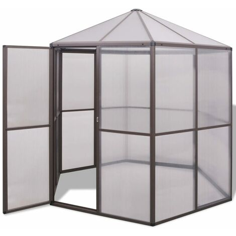 vidaXL Invernadero de aluminio 240x211x232 cm - Transparente