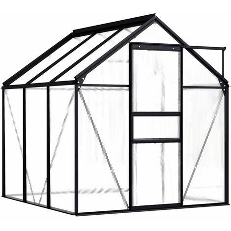 vidaXL Invernadero de aluminio gris antracita 3,61 m² - Antracita