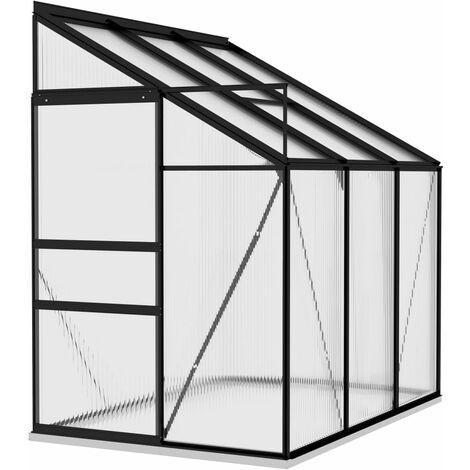 vidaXL Invernadero de aluminio gris antracita 3,97 m³ - Antracita