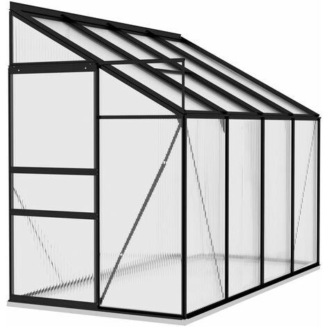vidaXL Invernadero de aluminio gris antracita 5,24 m³ - Antracita
