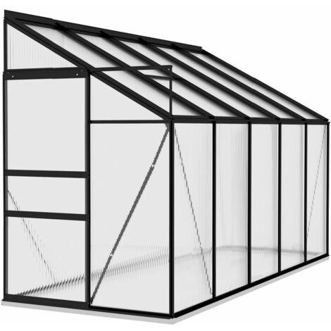 vidaXL Invernadero de aluminio gris antracita 6,5 m³ - Antracita