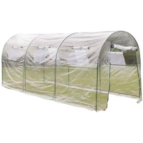 vidaXL Invernadero de exterior grande portátil jardinería plantación - Transparente