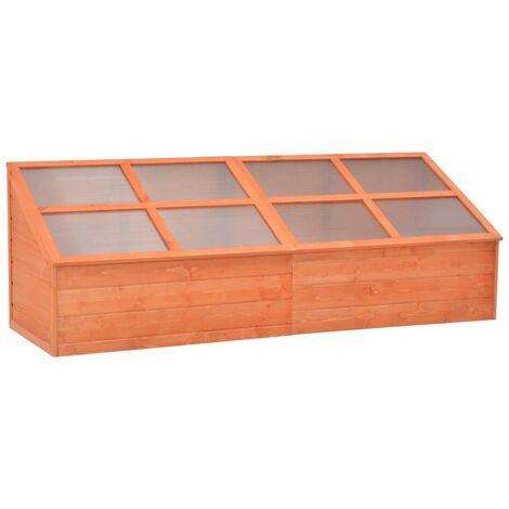 vidaXL Invernadero de madera 180x57x62 cm - Marrón