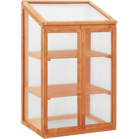 vidaXL Invernadero de madera de abeto 60x45x100 cm