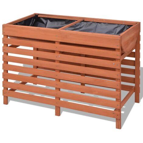 vidaXL Jardinera de madera 100x50x71 cm - Marrón