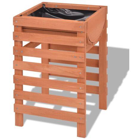 vidaXL Jardinera de madera 38x36x60 cm - Beige