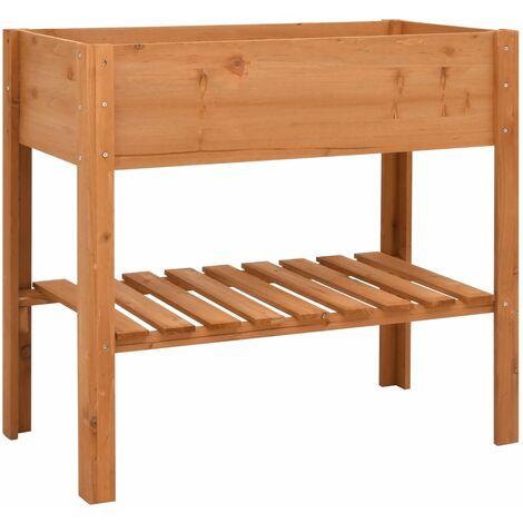 vidaXL Jardinera de madera de abeto 88x43x80 cm - Marrón