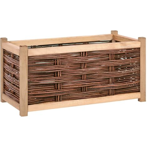 vidaXL Jardinera de madera de pino maciza 80x40x40 cm