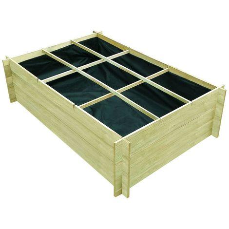 vidaXL Jardinera de madera impregnada FSC 150x100x40 cm