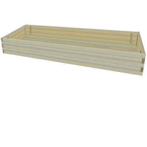 vidaXL Jardinera macetero de madera de pino impregnada 197 cm