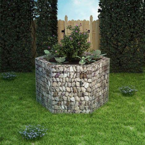 vidaXL Jardiniere a gabion hexagonale 160 x 140 x 100 cm