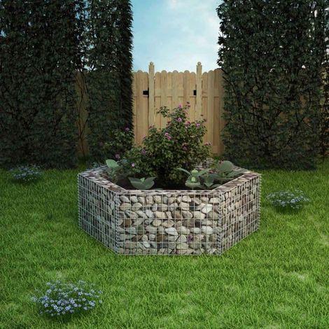 VidaXL Jardiniere a gabion hexagonale 160 x 140 x 50 cm
