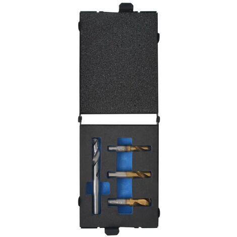 vidaXL Juego de brocas para puntos de soldadura 4 piezas cobalto HSS