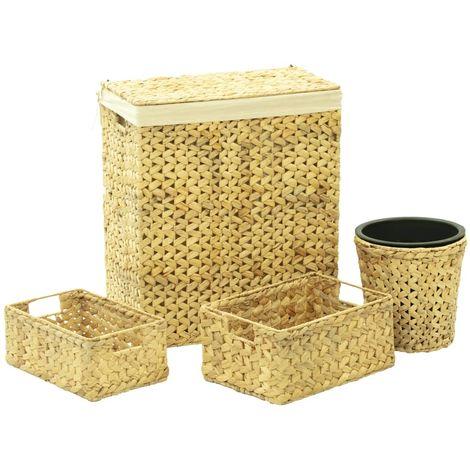 vidaXL Juego de cuarto de bano jacinto de agua 4 piezas