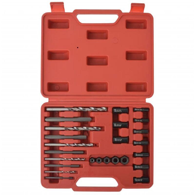 Juego de extractores de tornillos de 25 piezas de acero - Vidaxl