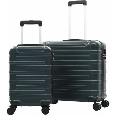 vidaXL Juego de maletas trolley rígidas 2 piezas verde ABS - Verde
