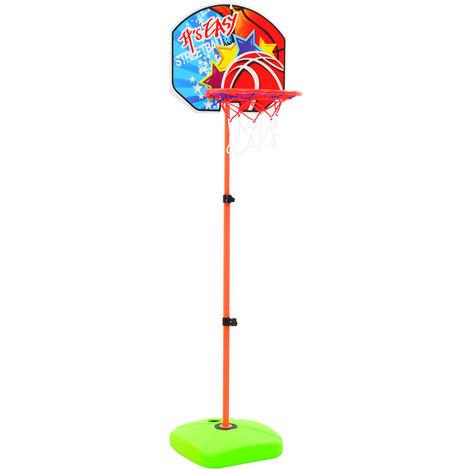 vidaXL Kids' Basketball Hoop and Ball Set - Multicolour