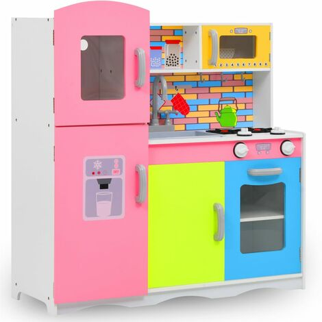 vidaXL Kids' Play Kitchen MDF 80x30x85 cm Multicolour