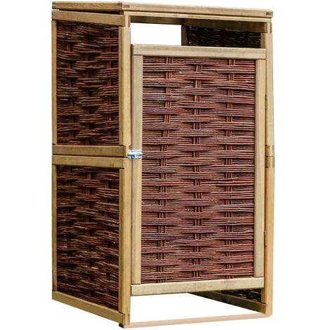vidaXL Kiefernholz Imprägniert Mülltonnenbox Mülltonnenverkleidung Müllbox Müllcontainer Gartenbox Gerätebox Weide für 1/2/3/4 Tonnen