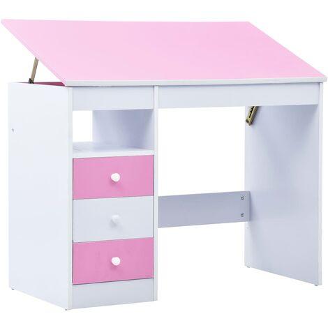 vidaXL Kinderschreibtisch mit 3 Schubladen Kippbar Neigungsverstellbar Schreibtisch Schülerschreibtisch Computertisch Spanplatte mehrere Auswahl
