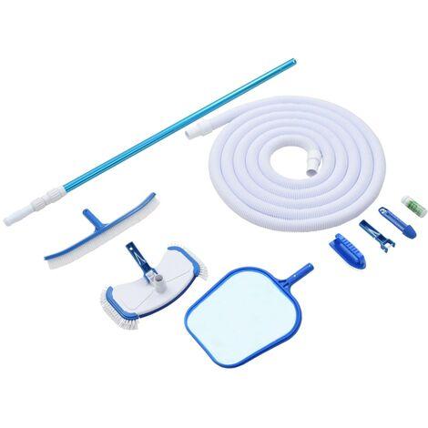 vidaXL Kit de mantenimiento de piscina 9 piezas - Multicolor