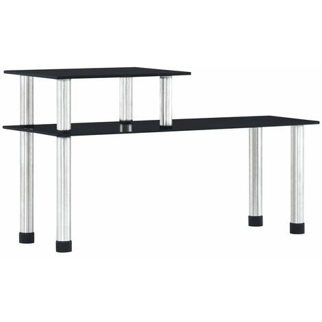 "main image of ""vidaXL Kitchen Shelf Black 45x16x26 cm Tempered Glass - Black"""