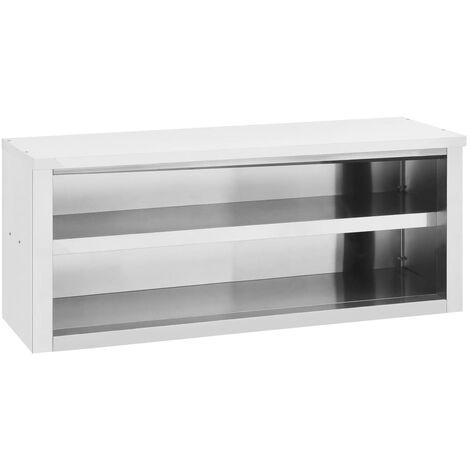 vidaXL Kitchen Wall Cabinet 120x40x50 cm Stainless Steel - Silver