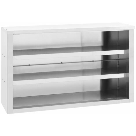 vidaXL Kitchen Wall Cabinet 120x40x75 cm Stainless Steel - Silver
