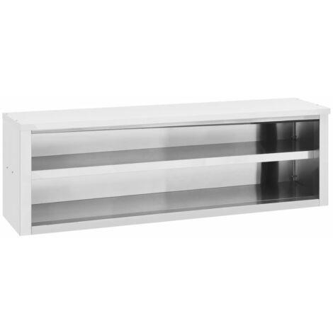 vidaXL Kitchen Wall Cabinet 150x40x50 cm Stainless Steel - Silver
