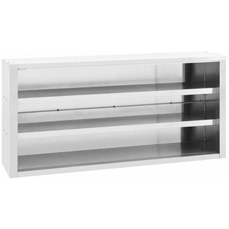 vidaXL Kitchen Wall Cabinet 150x40x75 cm Stainless Steel - Silver
