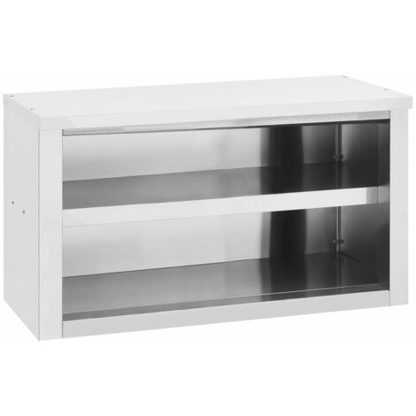 vidaXL Kitchen Wall Cabinet 90x40x50 cm Stainless Steel - Silver