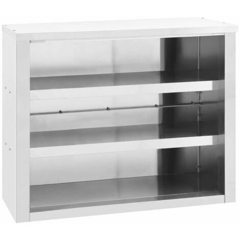 vidaXL Kitchen Wall Cabinet 90x40x75 cm Stainless Steel - Silver