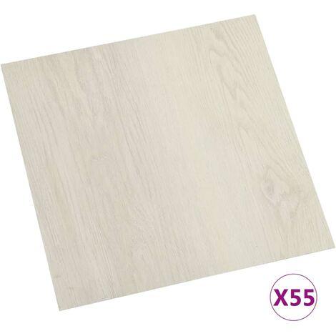 vidaXL Lamas para suelo autoadhesivas 55 piezas PVC 5,11 m² beige - Beige